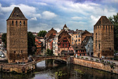 HDR Strasbourg. French-Alsace-Strasbourg-Barrage Vauban in HDR Stock Photography