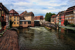 HDR Strasbourg. French-Alsace-Strasbourg-HDR view of the river Stock Images