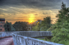 HDR Sunset. HRD sunset in mestre, italia Royalty Free Stock Image