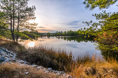 HDR Sunset on Lake Royalty Free Stock Image