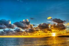 Hdr sunset in Sardinia Royalty Free Stock Photos