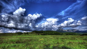 HDR Time Lapse. Crimean Nature Landscape With Clouds stock video footage