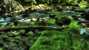 HDR Time Lapse Stream Of Water In Nature stock video footage
