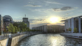 HDR Timelapse Berlin Spree stock videobeelden