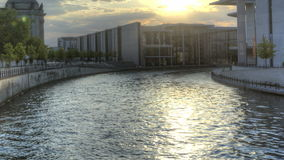 HDR Timelapse Berlin Spree stock footage