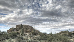 HDR Timelapse Javelina Rocks Saguaro NP Arizona Stock Photo