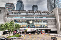 HDR tolkning av Apple Store i Hong Kong Royaltyfria Bilder