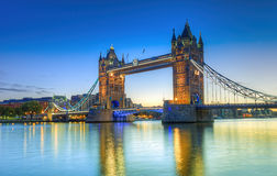 HDR Tower Bridge Royalty Free Stock Photo