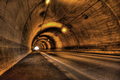 HDR of the tunnel Stock Images
