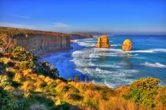 HDR of Twelve Apostles. HDR of the famous Twelve Apostles along Great Ocean Road, Australia Stock Image