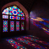 HDR van Nasir al-Mulk Mosque in Shiraz, Iran Royalty-vrije Stock Afbeelding