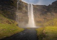 HDR van watervallen in IJsland Stock Afbeelding