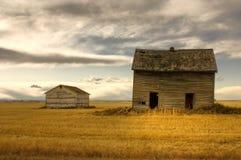 HDR verlassenes Bauernhof-Haus Stockbild