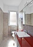 Hdr vermelho do banheiro Imagem de Stock Royalty Free