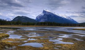 HDR Vermilion Lakes Royalty Free Stock Photo
