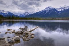 HDR Vermilion Lakes Royalty Free Stock Photos