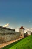 HDR - Vieux murs de forteresse de Brasov images libres de droits