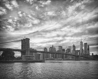 HDR view of Brooklyn Bridge. Stock Photography