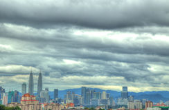HDR view of KL City Royalty Free Stock Image