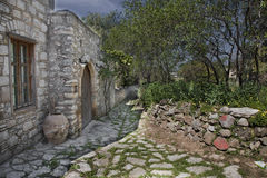 HDR View Of Stone City Datca Royalty Free Stock Image