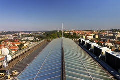 HDR View from the top of the Vitkov Memorial on the Prague landscape on a sunny day Royalty Free Stock Photo