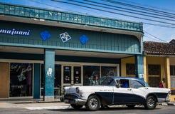 HDR vintage car Villa Clara Cuba Royalty Free Stock Images