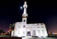 HDR von Muharraq-corniche Moschee Stockfotografie