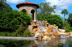 HDR Wasserfall im Paradies Stockfoto