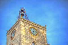 Hdr watch tower Stock Photography