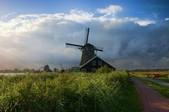 HDR Windmill. Holland-An HDR view of a windmill Royalty Free Stock Images