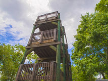HDR Wooden tower Royalty Free Stock Images