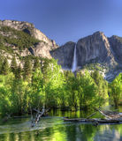 HDR of Yosemite Falls Stock Photo