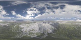 HDRI, карта окружающей среды, ландшафт океана зимы стоковая фотография rf