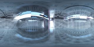 HDRI, карта окружающей среды, сферически панорама, равнопромежуточная проекция, предпосылки фабрики Стоковая Фотография RF