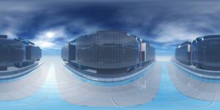 HDRI, карта окружающей среды, сферически панорама, равнопромежуточная проекция, предпосылки фабрики Стоковые Фото