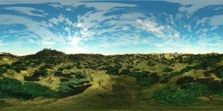 HDRI, карта окружающей среды бесплатная иллюстрация