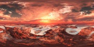 HDRI, carte d'environnement, Mars images libres de droits