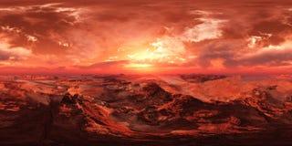 HDRI, carte d'environnement, Mars photos libres de droits