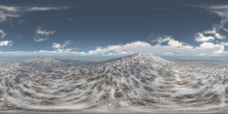 HDRI, carte d'environnement, paysage d'océan d'hiver photo stock
