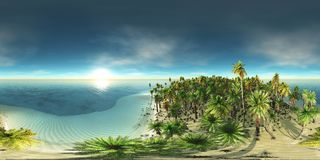HDRI, environment map. Round panorama, spherical panorama, equidistant projection, land under heaven stock illustration