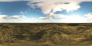 HDRI High resolution map. environment map, The sun in the clouds, view of clouds in the blue sky. The sun in the clouds, view of clouds in the blue sky, a Stock Photography