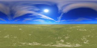 HDRI High resolution map. the sun in the clouds Royalty Free Stock Photos