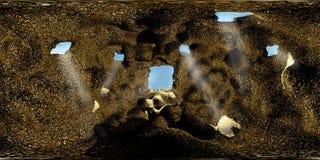 HDRI-Karte der Höhle stock abbildung