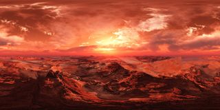 HDRI, mapa do ambiente, Marte fotos de stock royalty free