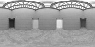 HDRI-miljööversikt, abstrakt sfärisk panoramabakgrund med den ljusa equirectangular tolkningen för källor 3d royaltyfri illustrationer