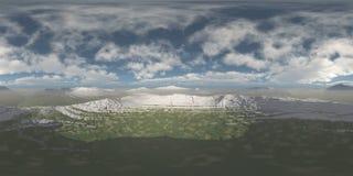 HDRI, środowisko mapa, zima oceanu krajobraz zdjęcie stock