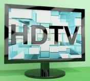 HDTV监控表示高定义 免版税库存照片