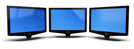 HDTV television screen Royalty Free Stock Images