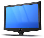 HDTV television screen Royalty Free Stock Photo