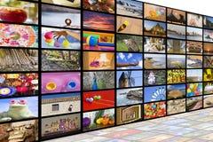 Hdtv-TV-sändningbegrepp Fotografering för Bildbyråer